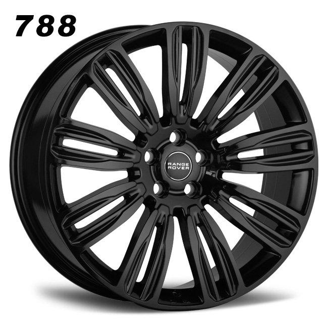 22inch range rover black aluminum alloy wheels