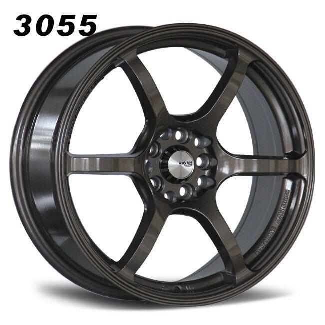 6 spokes bronze alloy wheels.