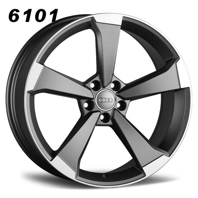 Audi S5 5 spokes gray cast alloy wheels