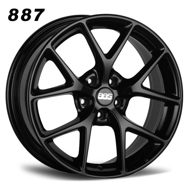 BBS Y spoke split 5 spokes black alloy wheel