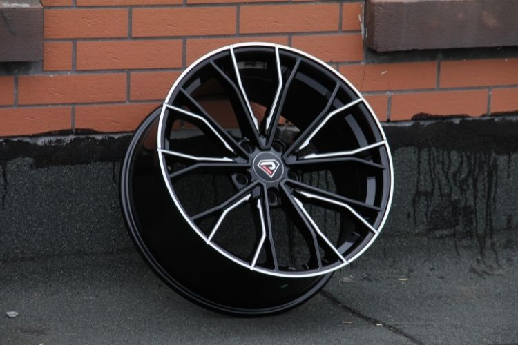 BMW 5 Racing Performance 5-112 19inch 5 Spokes Black Milled Alloy wheels