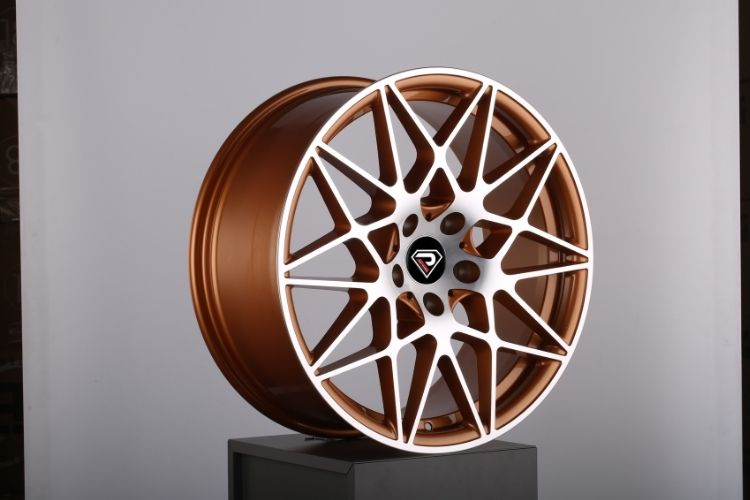 BMW M4 GTS 5-112 Deep concave Gold Polished alloy wheels