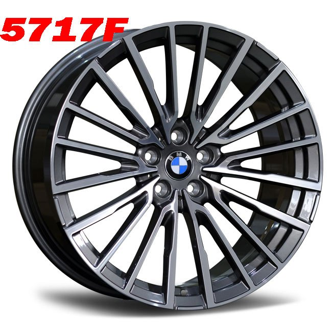 BMW custom gray forged wheels