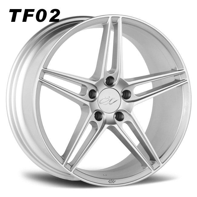 CEC double 5 spokes concave lightwheels silver alloy wheels
