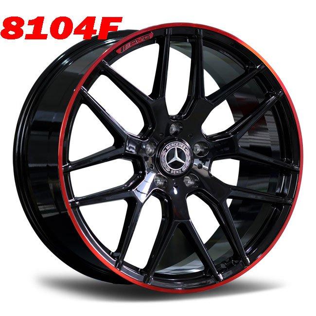 Mercedes black red lip 7 spoke alloy wheels