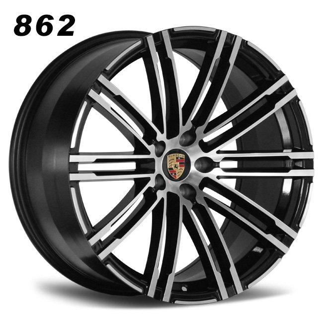 Porsche 5 holes black concave wheels