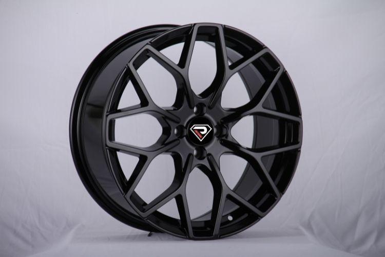 Smart brabus Y 17inch staggered black alloy wheels