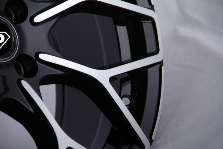 Smart brabus Y 18inch staggered black silver alloy wheels
