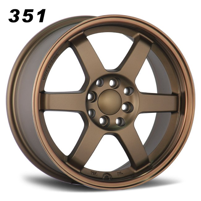TE37 6 spokes bronze alloy wheels