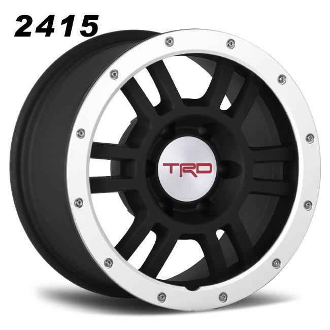 TRD 17inch black 6 spokes wheels