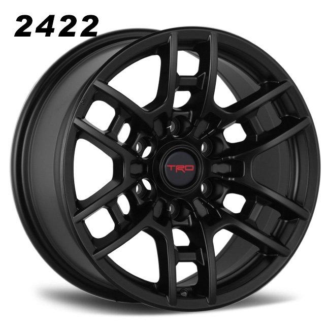 TRD 17inch full satin black 6 spokes wheels
