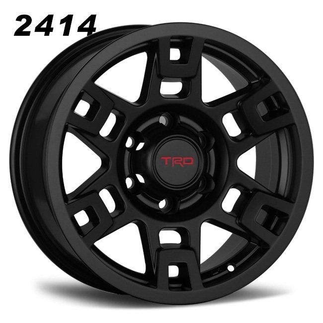 TRD black 17inch 6 spokes wheels