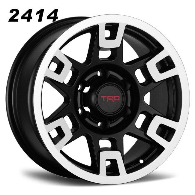 TRD black polished face 6 spokes wheels