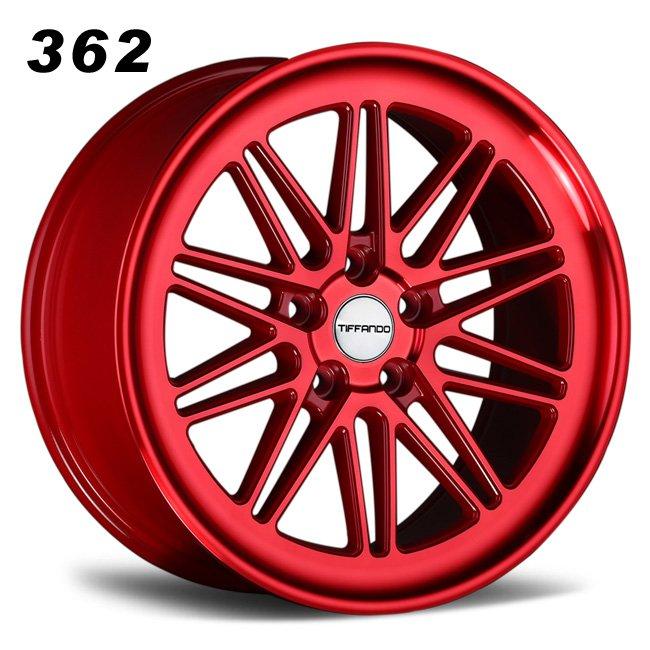 muti-spokes red alloy wheels