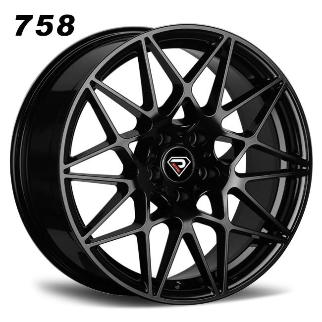 758 BMW M4 GTS 20inch 5-112 Mesh Spokes Black alloy wheels