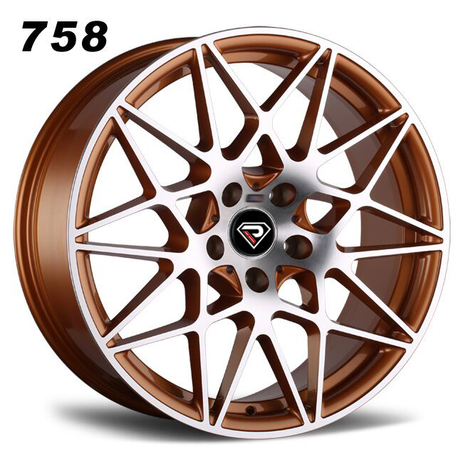 758 BMW M4 GTS 5-112 Deep concave Gold Polished alloy wheels