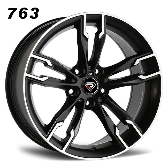 763 BMW 550i 18inch 5-112 Black Machined Face Alloy wheels