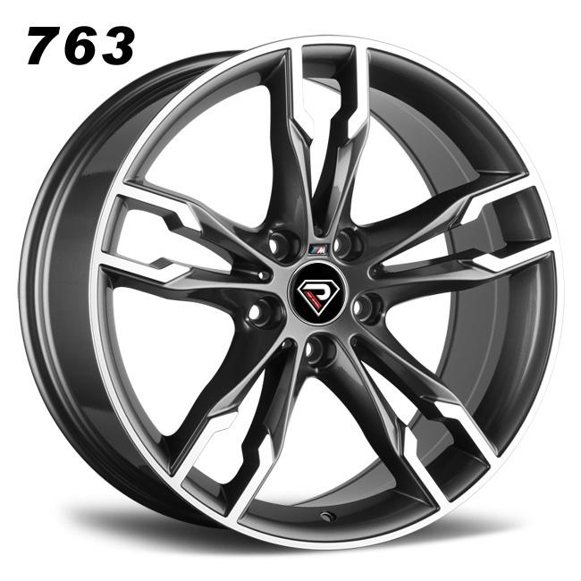 763-BMW 550i 19inch 5-120 Gunmetal Machined Face Alloy wheels
