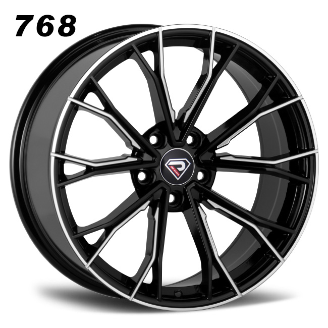 768 BMW 5 Racing Performance 5-120 5-112 19inch Black Machined Face Alloy wheels