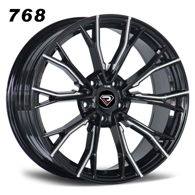 768 BMW 5 Racing Performance 5-120 5-112 19inch Black Milled Alloy wheels