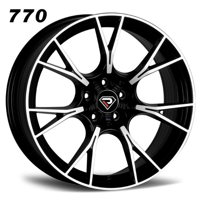 770 BMW M5 2019 all size Black Machined Face Alloy Wheels