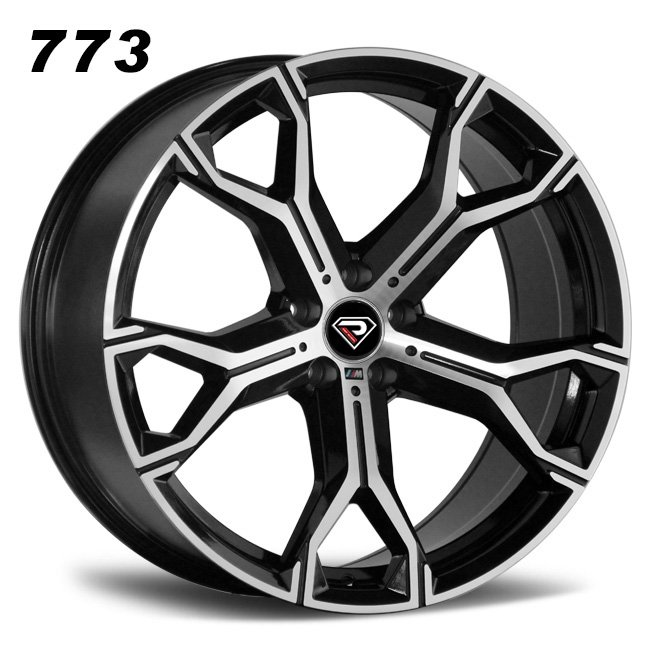 773 BMW X5 2019 20inch 21inch 5-120 special spoke Black Machined Face alloy wheels