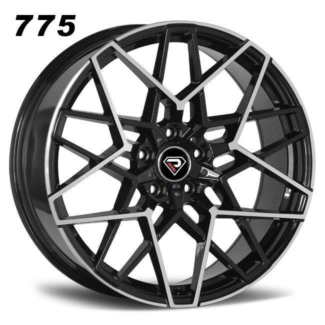 775 BMW M8 20inch two 5 double Spoke black machined face alloy wheel