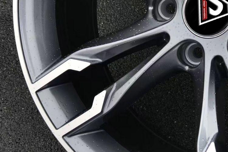 BMW 550i 19inch 5-120 Double spokes Gunmetal Machined Face Alloy wheels
