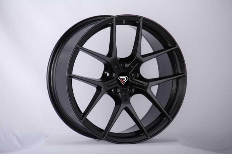 BMW M2 5 Double spokes Deep Convace Satin Black Alloy wheels