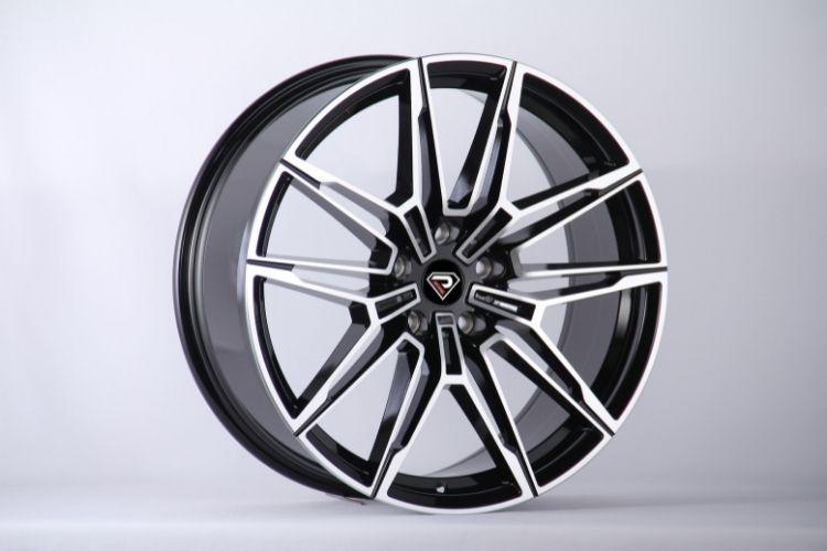 BMW New M4 5 holes V shape Black Machined Face Alloy Wheels