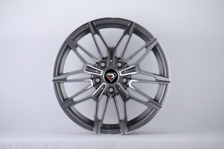 BMW New M4 V shape spokes Gunmetal Machined Face Alloy Wheels