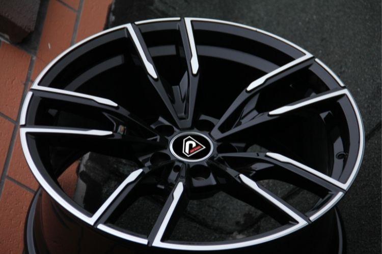 BMW X3 M performance 5 spokes deep concave Black Machined Face Alloy Wheels