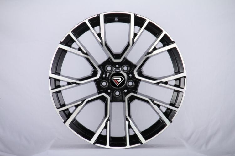 BMW X5M 2020 5 spokes Black Machined Face Alloy Wheels