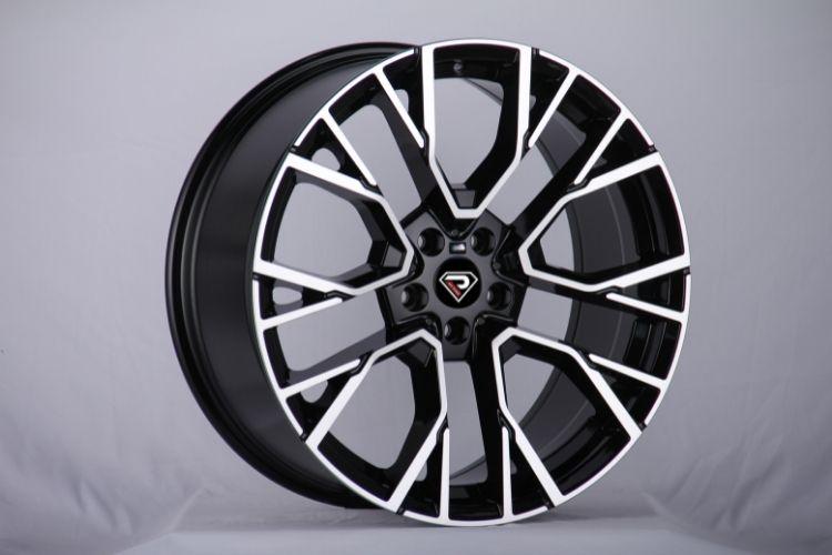 BMW X5M 2020 Multi-spokes Black Machined Face Alloy Wheels