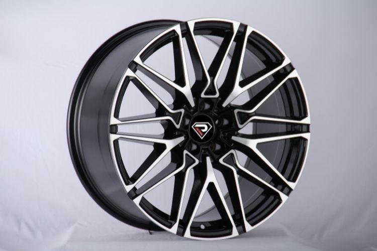 BMW X6M 2020 V Shape spokes Black Machined Face Alloy Wheels