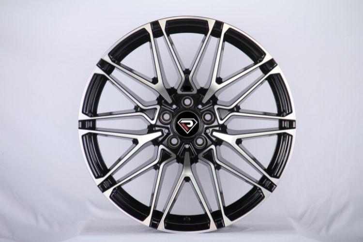 BMW X6M 2020 V Shape spokes high loading Black Machined Face Alloy Wheels