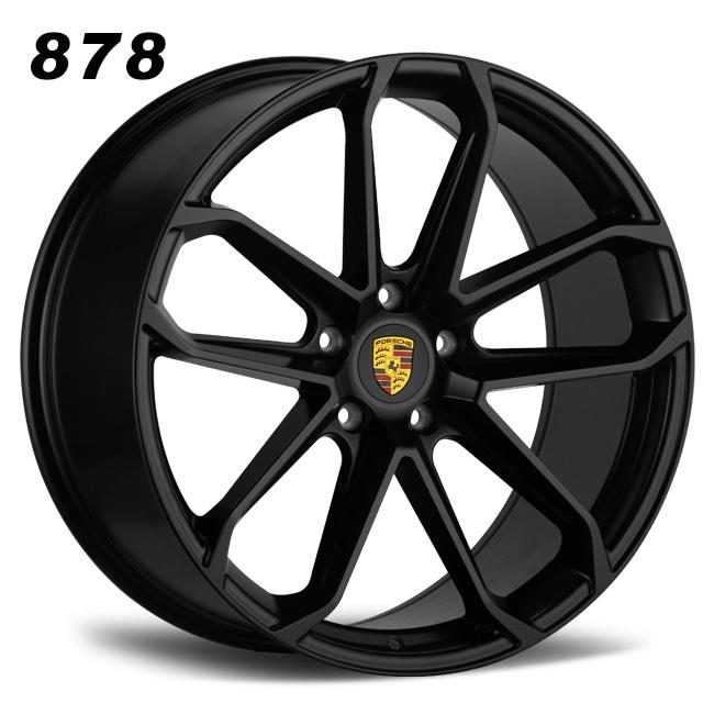 Porsche 10 spokes 22inch staggered matt black alloys