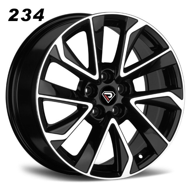 2134 17inch 5 spokes Black Machined Face Alloy wheels