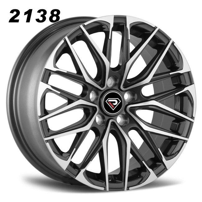2138 Lexus 17inch Black Machined Face Alloy Wheels