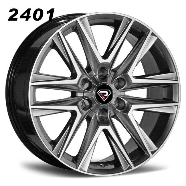 2401 Lexus 22inch 24inch 6-139.7 Sliver Alloy Wheels