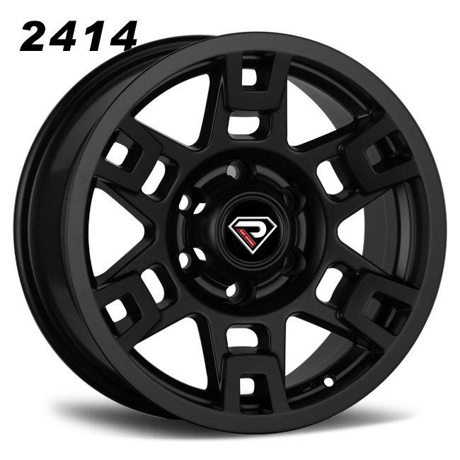 2414 TRD 20inch 22inch Matte Black Alloy Wheels