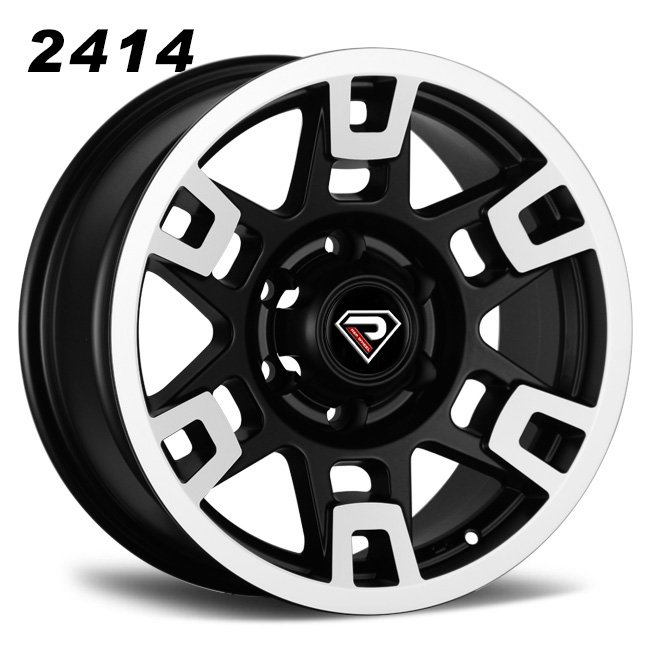 2414 TRD 20inch 22inch Matte Black Machined Face Alloy Wheels