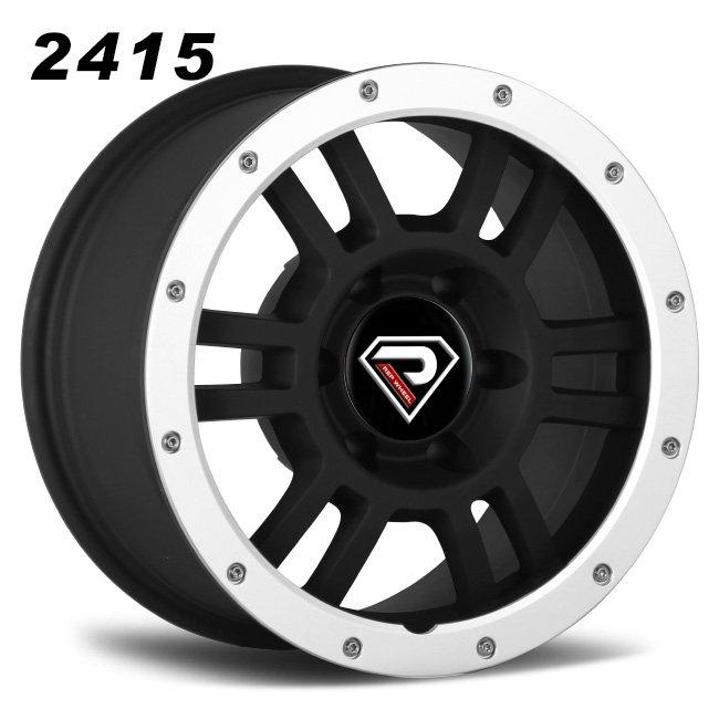 2415 TRD 16inch 17inch Matte Black Machined Lip Alloy Wheels