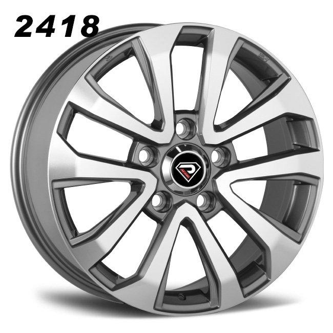 2418 LR 17inch 18inch 20inch Gunmetal Machined Face Alloy Wheels
