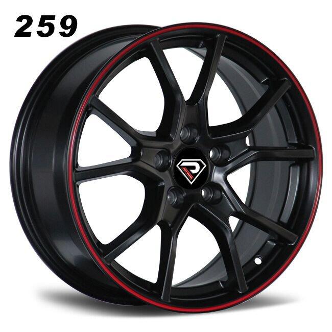 259 Type R 17inch 18inch 19inch 20inch Black Red Lip Alloy wheels