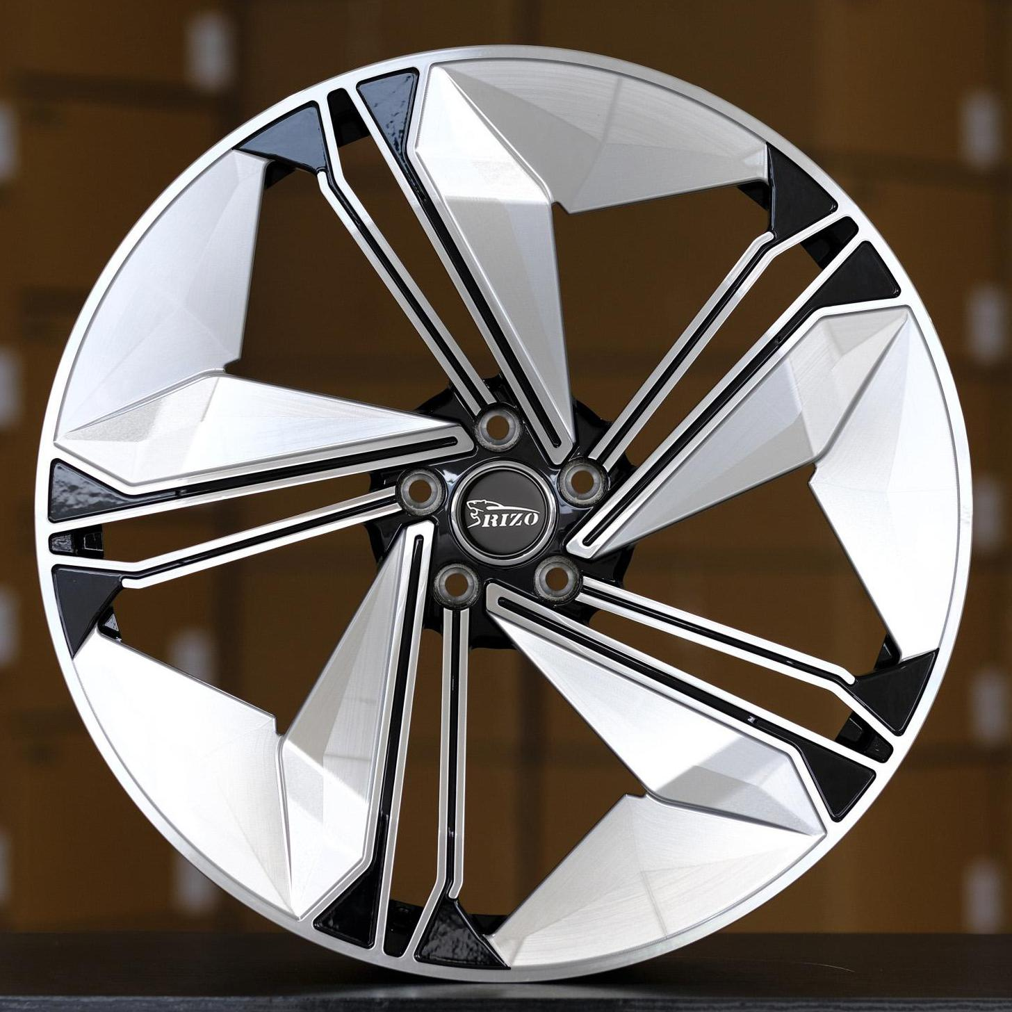 5615F AUDI CONCEPT 18inch Black Milling Face Custom Forged Wheels