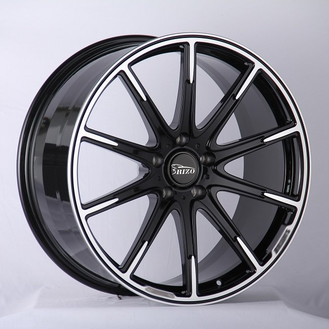 5807F BRABUS 24inch Monoblock 10 spokes Black Machined Face Forged wheels