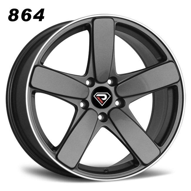 864 PORSCHE MACAN 5 Spokes Gunmetal Machined Lip Alloy wheels