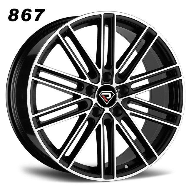 867 PORSCHE CAYENNE 10 Spokes Matte Black Machined Face Alloy wheels