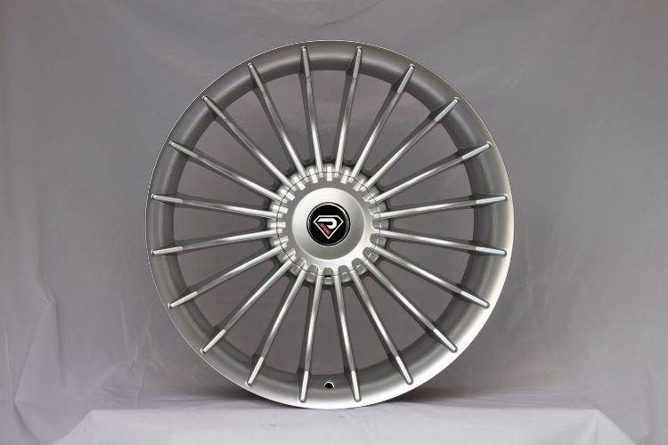 Alpina B7 5-120 Multi-spokes Big Center Cap Sliver Lip Alloy wheels